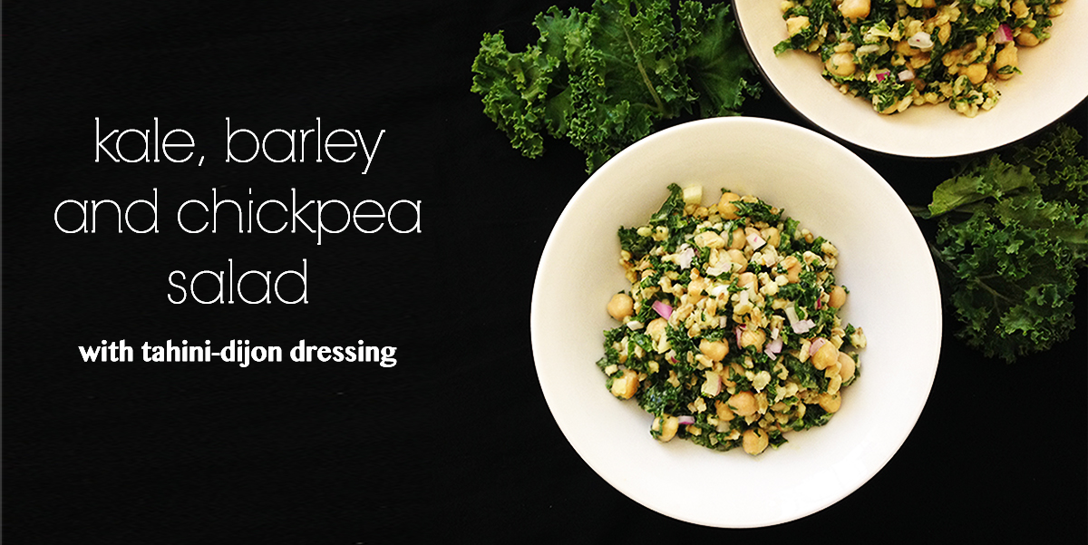 kale barley chickpea salad feature