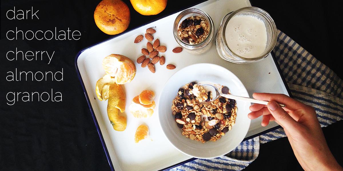 choc cherry almond muesli feature